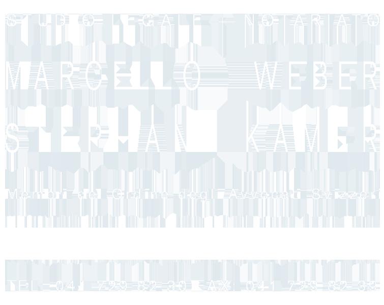 Studio legale + Notariato Marcello Weber Stephan Kamer Membri del Ordine degli Avvocati Svizzeri Poststrasse 14 Postfach 1130 6301 Zug Tel: 041 729 82 30 Fax: 041 729 82 39